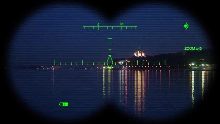 Digital Binoculars View: Stock Motion Graphics