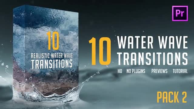 Water Wave Transitions Pack 2: Premiere Pro Templates