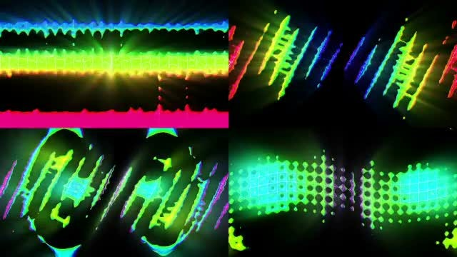 Abstract Colorful 80's VJ Backgrounds - Stock Motion