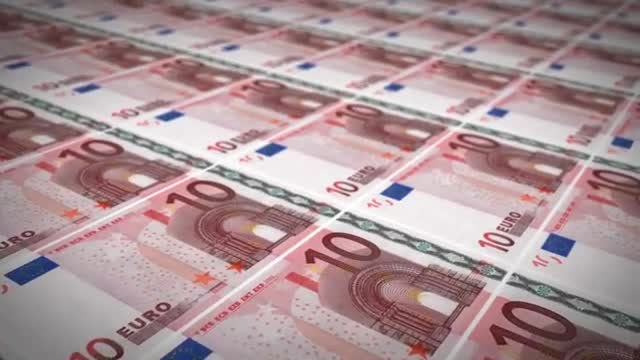 Ten Euro Background: Stock Motion Graphics