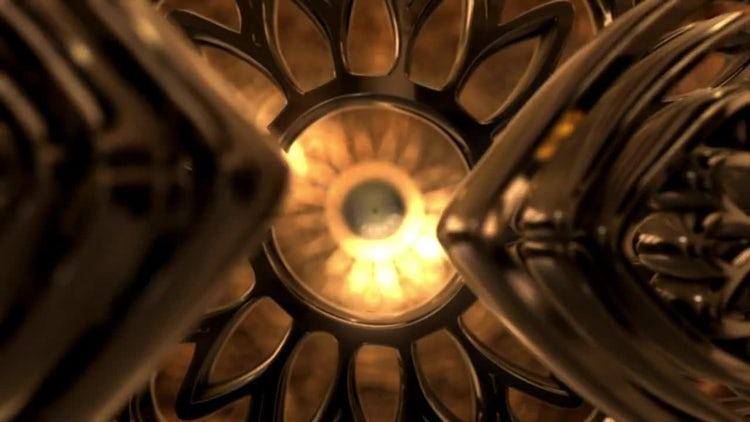 Gold Flower Mandala Ornament: Stock Motion Graphics