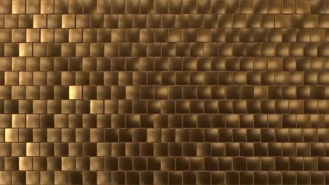 Glittery Golden Cubes: Stock Motion Graphics