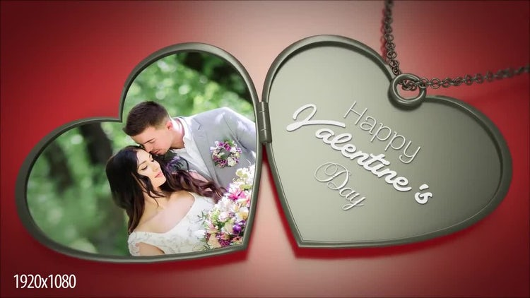 3D Heart Necklace: After Effects Templates