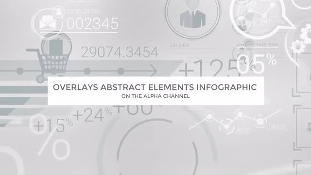 Overlays Abstract Elements Infographic: Stock Motion Graphics