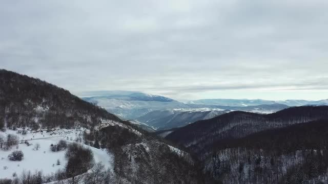Snowy Mountain Aerial: Stock Video