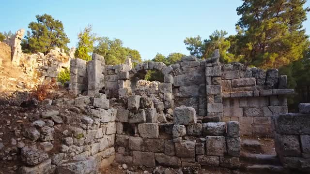 Ancient Fortress In Turkey: Stock Video
