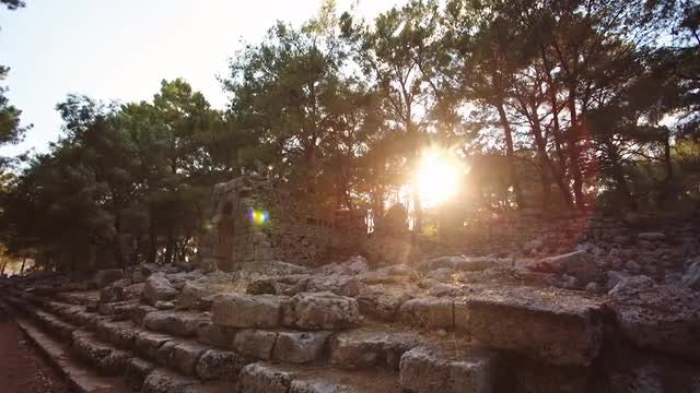 The Ancient City Of Phaselis: Stock Video