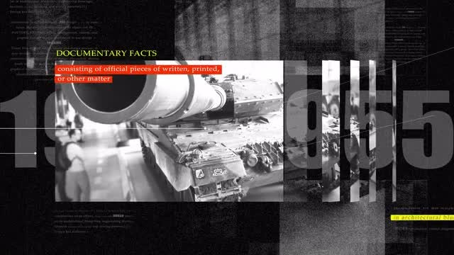4K War History Documentary Opener: After Effects Templates