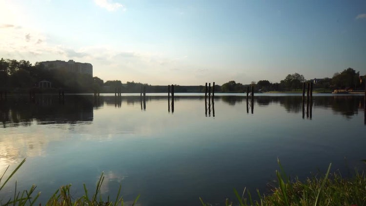 Lake Near The Airport: Stock Video