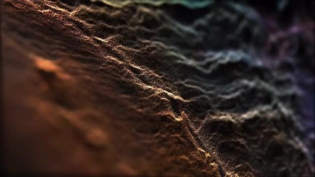 Abstract Outer Space Surface: Stock Motion Graphics