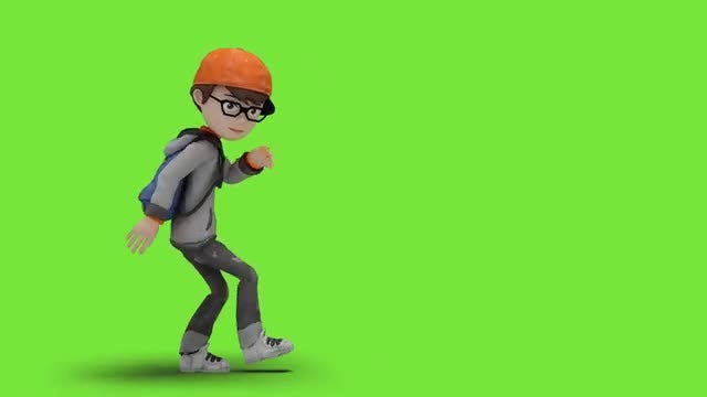 Cartoon Kid Dancing Freestyle: Stock Motion Graphics