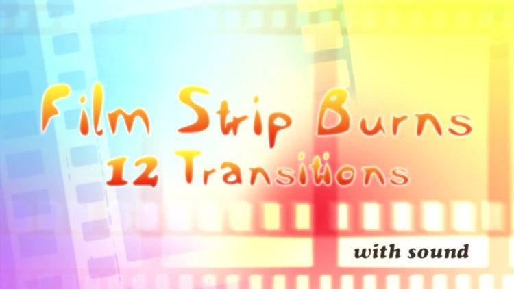 Film Strip Burns: Stock Motion Graphics