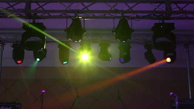 Concert Lights: Stock Video