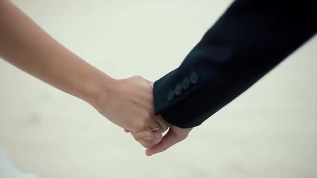 Couple Holding Hands: Stock Video