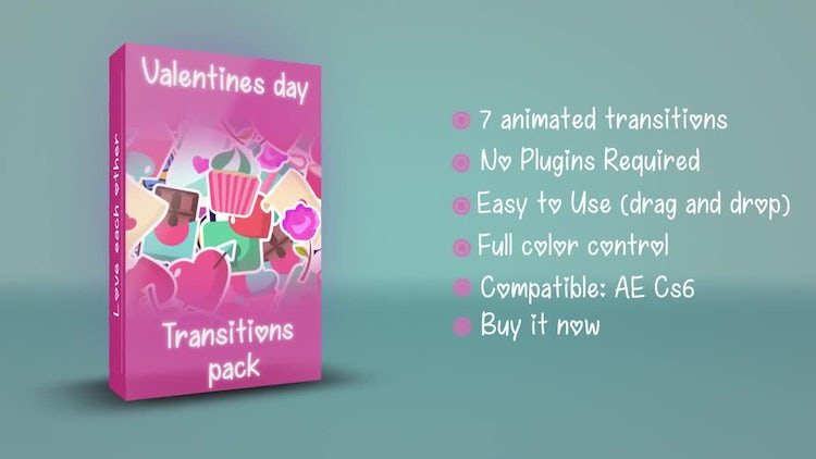 Valentine's Day Transitions: After Effects Templates