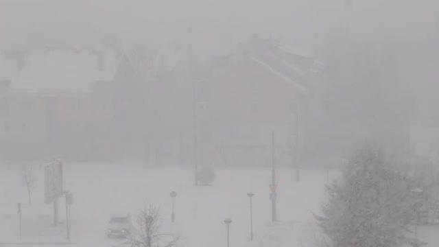 Heavy Snow Falling: Stock Video