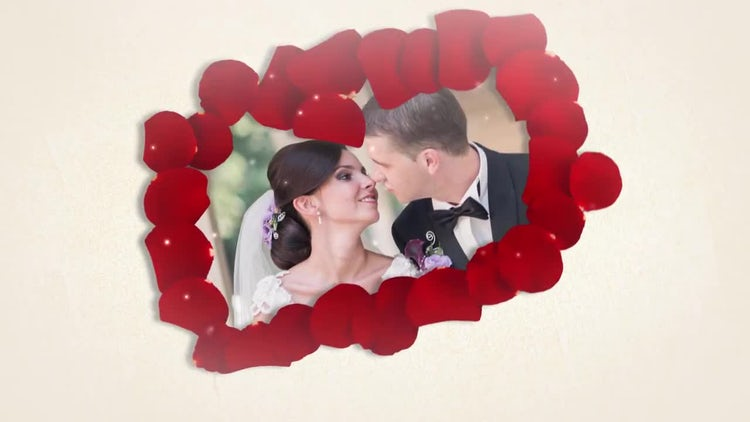 Romantic Wedding Slideshow With Roses: After Effects Templates