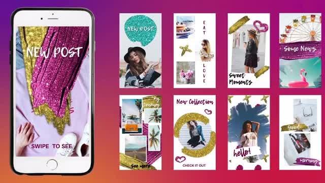 Bright Instagram Stories: Premiere Pro Templates