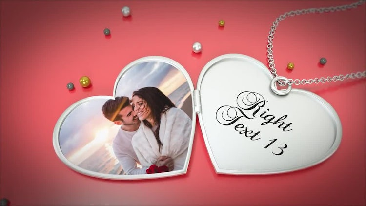 Heart Pendant Album: After Effects Templates