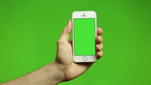 Green Screen On Phone: Stock Video