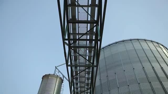 Granary Grain Elevators: Stock Video