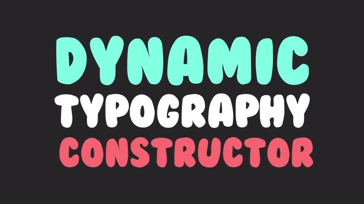 Dynamic Typography Constructor: After Effects Templates