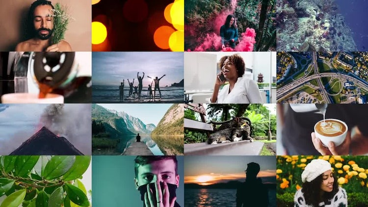 Clean Multiframe Logo: After Effects Templates