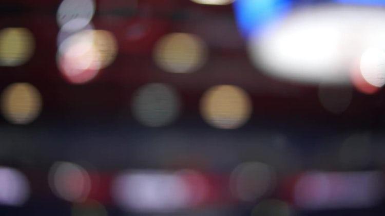 Blurry Scoreboard: Stock Video