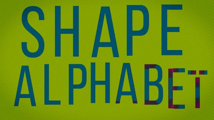 Shape Alphabet: After Effects Templates