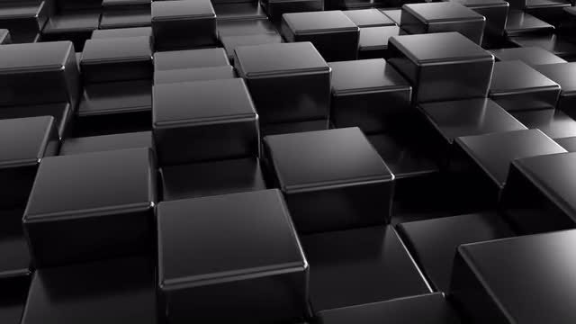 Black Cubes Background: Stock Motion Graphics