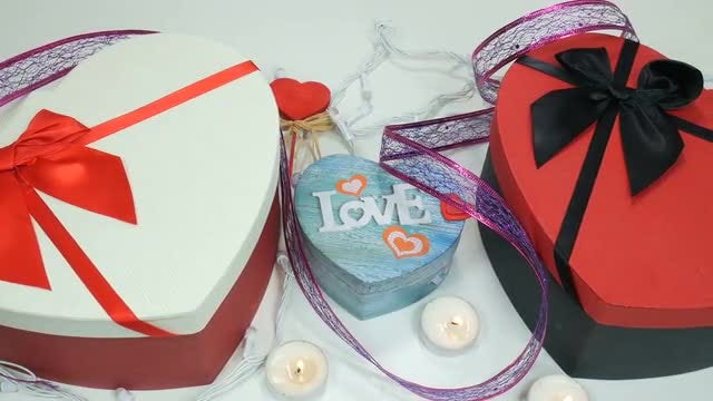 Valentine's Day Gift Boxes: Stock Video