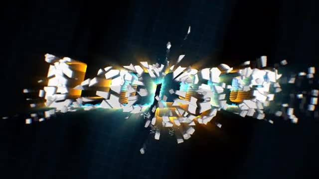 Energetic Shatter Logo: After Effects Templates