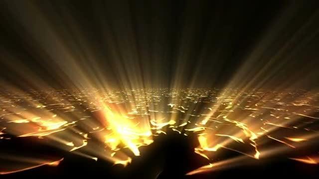 Light Rays Beaming Through Cracks: Stock Motion Graphics