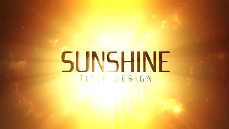Sunshine: After Effects Templates