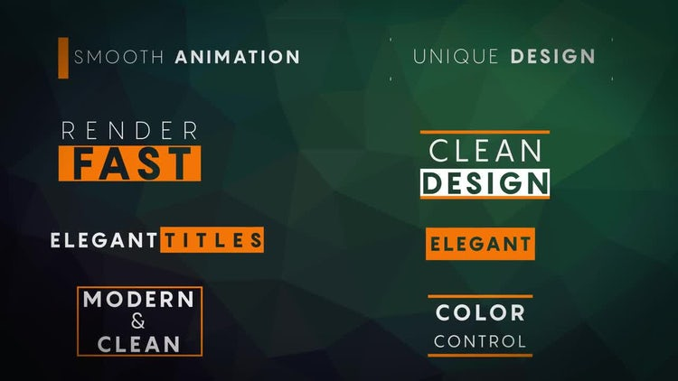 8 Minimal Titles: After Effects Templates