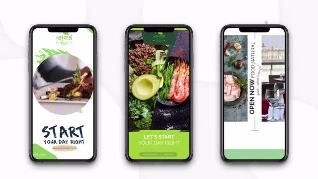Instagram Stories: Healthy Food: After Effects Templates