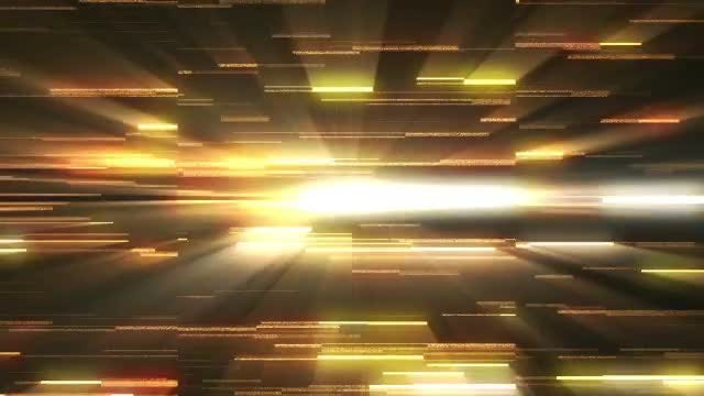 Glowing Light Rays' Parallel Movements: Stock Motion Graphics