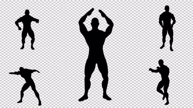 Silhouette Of The Dancing Man: Stock Motion Graphics