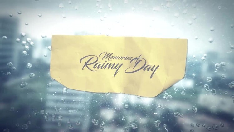 Memories of Rainy Day: After Effects Templates