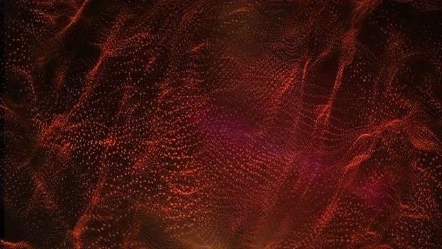 Red Particles Abstract Background: Stock Motion Graphics