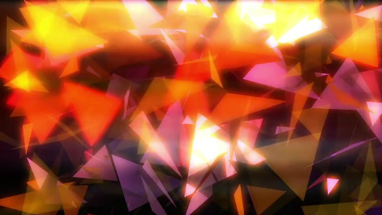Triangular Particles VJ Loop: Motion Graphics