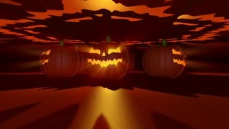 Halloween Pumpkins VJ Loop: Motion Graphics
