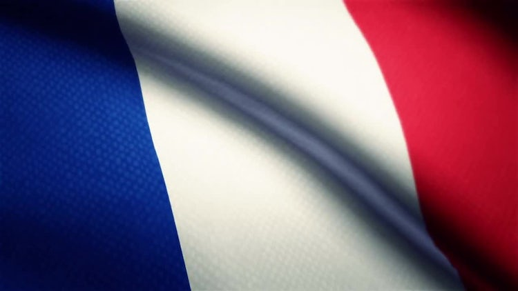 France Flag: Stock Motion Graphics