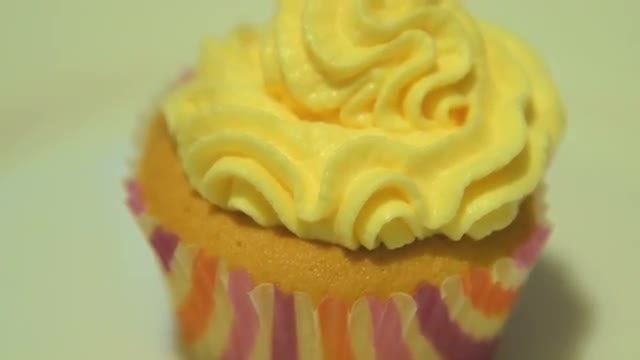 Cupcake With Cream: Stock Video