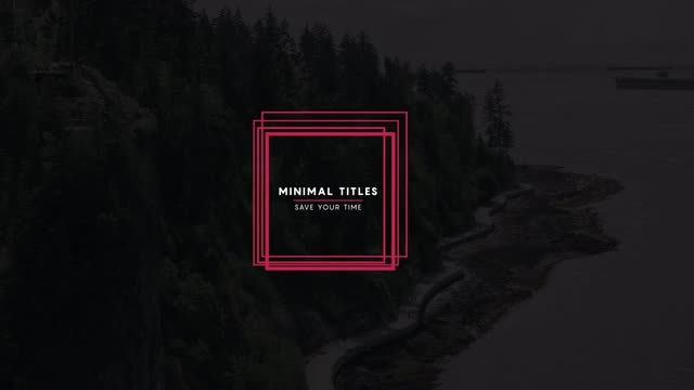 15 Minimal Titles v9: After Effects Templates