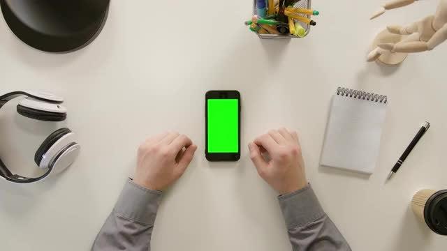 Green Screen Smartphone: Stock Video