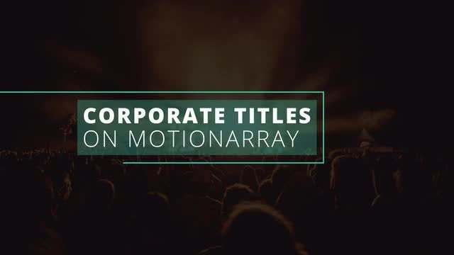 Minimal & Corporate Titles: After Effects Templates