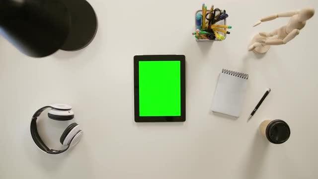 Tablet On Desk: Stock Video