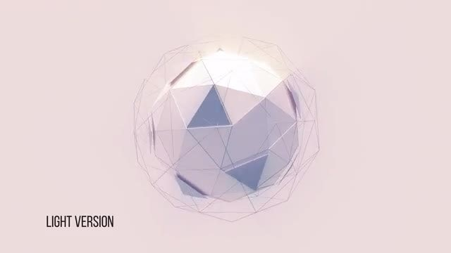 Abstract Polyhedron Backgrounds: Stock Motion Graphics