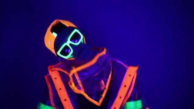 Neon Guy: Stock Video
